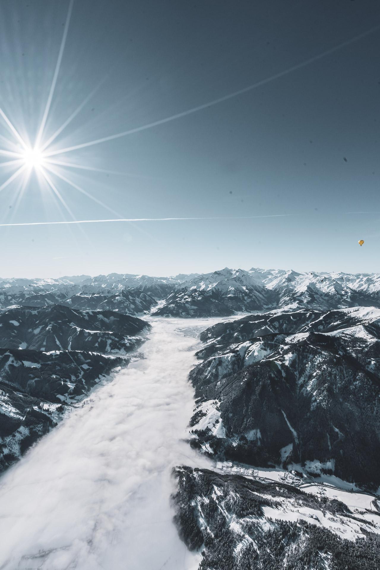 Panoramablick über die Winterlandschaft