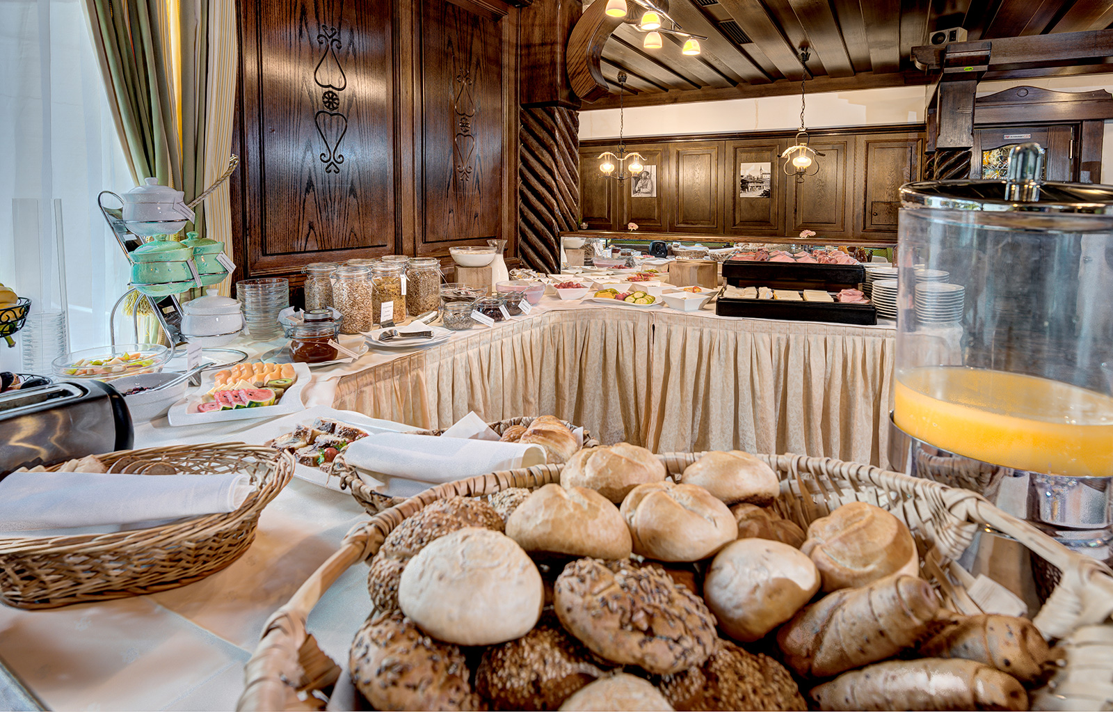 Frühstücksbuffet im Hotel Martini