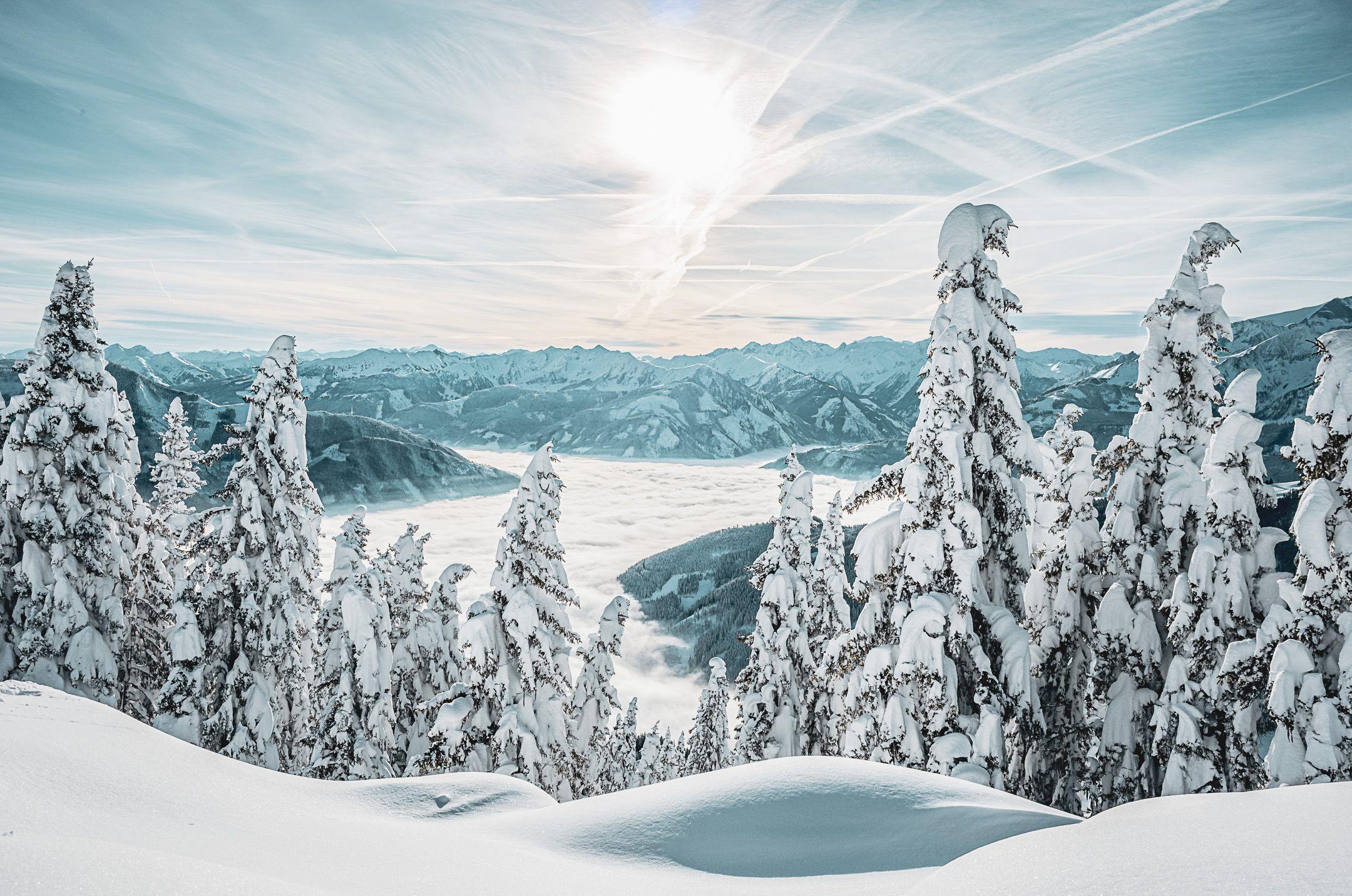 Winterlandschaft Panoramablick